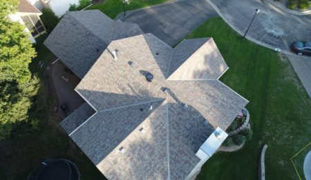 Arial View Repaired Roof