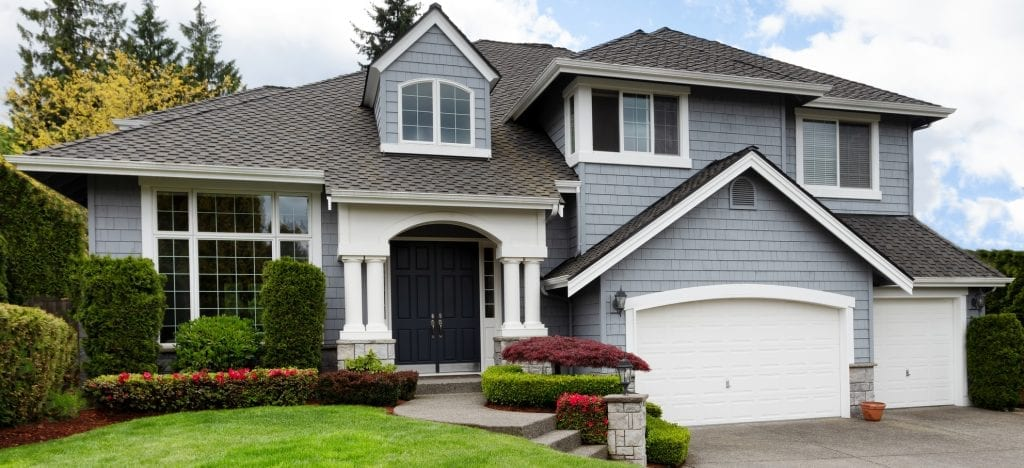 Suburban Home with Soffit & Fascia Installation