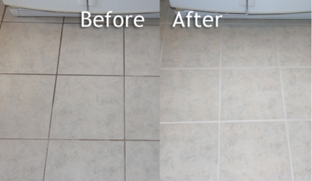 Tile & Grout Cleaning Before & After Image